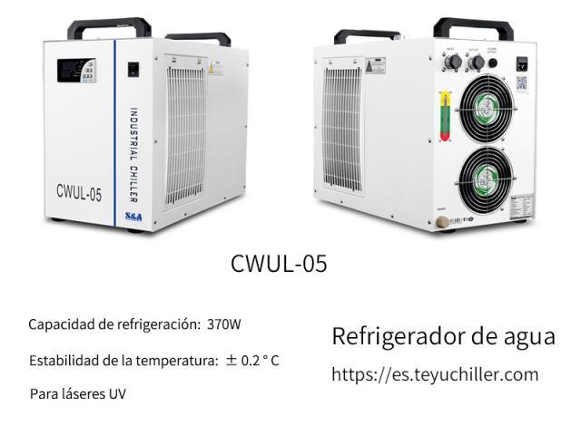 Enfriador de recirculación compacto CWUL-05 para marcadora láser UV